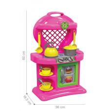 Детская игровая кухня 10 2155TXK с посудой