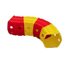 Детский Игровой тоннель 01471/1/2/3 'Тоннель 4 секции' (Красно-желтый)