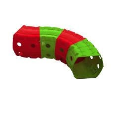 Детский Игровой тоннель 01471/1/2/3 'Тоннель 4 секции' (Красно-зеленый)